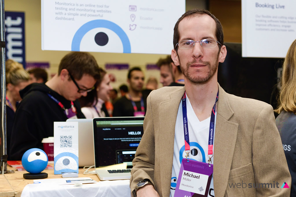 Michael Muller with Monitorica at Websummit Dublin